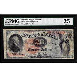1869 $20 Legal Tender Note Fr.127 PMG Very Fine 25