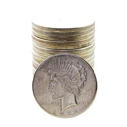 Roll of (20) 1922-S $1 Peace Silver Dollar Coins