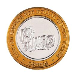 .999 Fine Silver Osheas Las Vegas, Nevada $10 Limited Edition Gaming Token