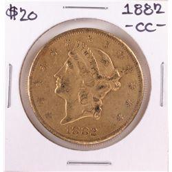 1882-CC $20 Liberty Head Double Eagle Gold Coin