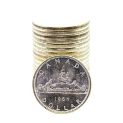Roll of (20) Brilliant Uncirculated 1965 Canadian Silver Dollar Coins