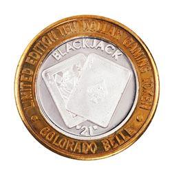 .999 Silver Colorado Belle Laughlin, Nevada $10 Casino Limited Edition Gaming Token.