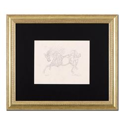 """Guillaume Azoulay """"BY Sketch"""" Original Etching on Paper"""