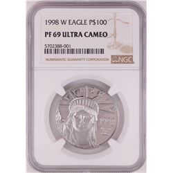 1998-W $100 Proof Platinum American Eagle Coin NGC PF69 Ultra Cameo