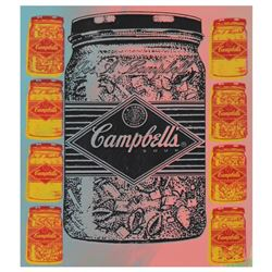 "Steve Kaufman (1960-2010) ""Campbell's Soup"" Limited Edition Silkscreen on Canvas"