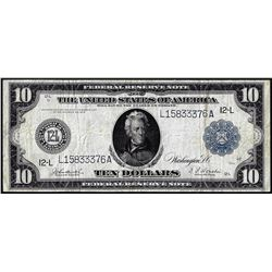 1914 $10 Federal Reserve Note San Francisco