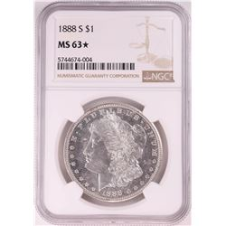 1888-S $1 Morgan Silver Dollar Coin NGC MS63* Star