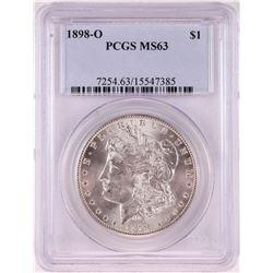 1898-O $1 Morgan Silver Dollar Coin PCGS MS63