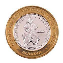 .999 Fine Silver Aladdin Resort & Casino Las Vegas $10 Limited Edition Gaming Token