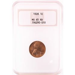 1928 Lincoln Wheat Cent Coin NGC MS65RD