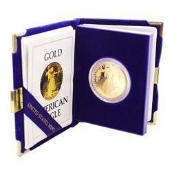 1986 $50 Proof American Gold Eagle Coin w/ Box & COA
