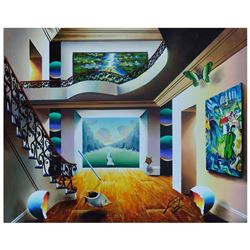 """Ferjo """"Nature's Pathway"""" Original Oil Painting on Canvas"""