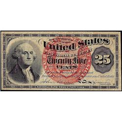 1863 Twenty-Five Cents Fourth Issue Fractional Currency Note