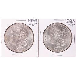 Lot of (2) 1883-O $1 Morgan Silver Dollar Coins