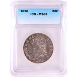 1826 Capped Bust Half Dollar Coin ICG MS63