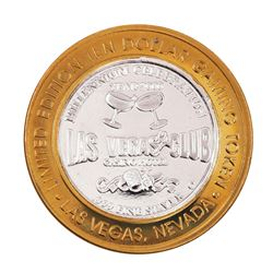 .999 Silver Las Vegas Club $10 Limited Edition Casino Gaming Token