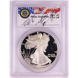 1992-S $1 Proof American Silver Eagle Coin PCGS PR69DCAM Miles Standish Signature