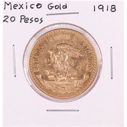 1918 Mexico 20 Pesos Gold Coin