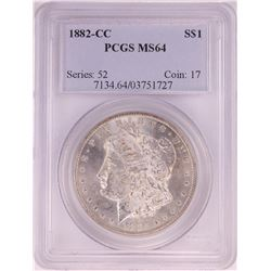1882-CC $1 Morgan Silver Dollar Coin PCGS MS64
