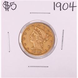 1904 $5 Liberty Head Half Eagle Gold Coin
