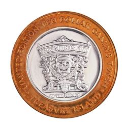 .999 Silver Treasure Island Las Vegas $10 Casino Limited Edition Gaming Token