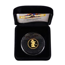 1989 Rarities Mint Hollywood Mickey 1/4 Oz. Gold Coin w/ Box & COA