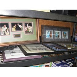 ASSORTED PICTURE FRAMES 6-PC
