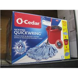O CEDAR MICROFIBER QUICK WRING MOP AND BUCKET SYSTEM