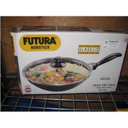 FUTURA NONSTICK DEEP FRYING PAN WITH LID