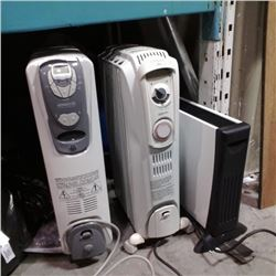ELECTRIC HEATER AND 2 OIL HEATERS