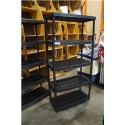 5 tier plastic shelf