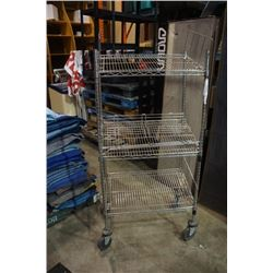 3 TIER CHROME ROLLING RACK