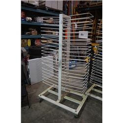 ROLLING WIRE DRYING RACK