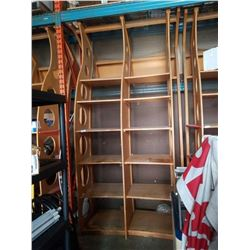 LARGE WOOD RETAIL DISPLAY SHELF UNIT - APPROXIMATELY 127 inches tall 70 inches wide 51 inches deep