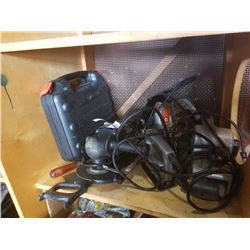 LOT OF BLACK AND DECKER POWER TOOLS - ANGLE GRINDER, SANDER, SAW