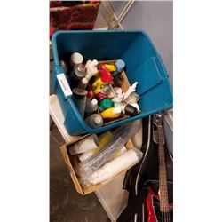 TOTE OF AEROSOL CLEANING FLUIDS AND CLEANING LIQUIDS