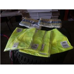 2 BAGS OF NEW 9MM NITRILE GLOVES AND 3XL HIGH VIS SHIRTS