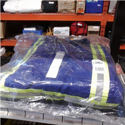 NEW PAIR OF 2XL HIGH VIS COVERALLS