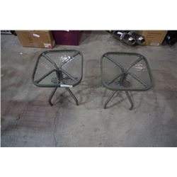 2 patio end tables