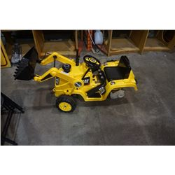 Kid trax 12 volt ride on front loader needs wheel and battery
