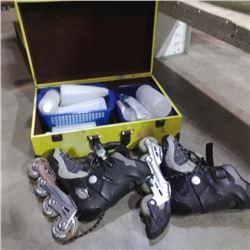 Cardel cigar case with roller blades, bottles and braided dishwasher hose