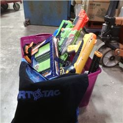 Tote of nerf guns and new pack of darts