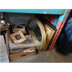 LOT OF PRINTS, PICTURE FRAMES, SHADOWBOX