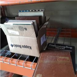 Box of popular science and woodworking hardcovers