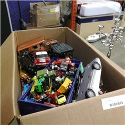 Large lot of die cast and toy cars