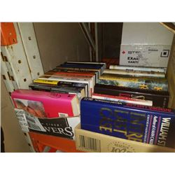 Box of hardcovers and novels including danielle steel