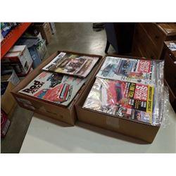 2 BOXES OF HOTROD MAGAZINES