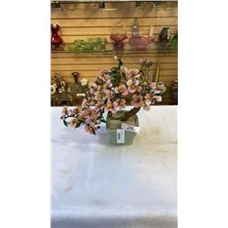 Artificial potted flower with hand made potter