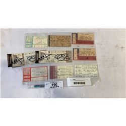 9 ROCK CONCERT TICKET STUBS - 2 SIGNED BY MARILYN MANSON