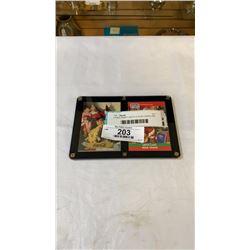2 RARE INSERT SANTA CLAUSE CARDS PRO SET 1990 PLUS COCA COLA 1993